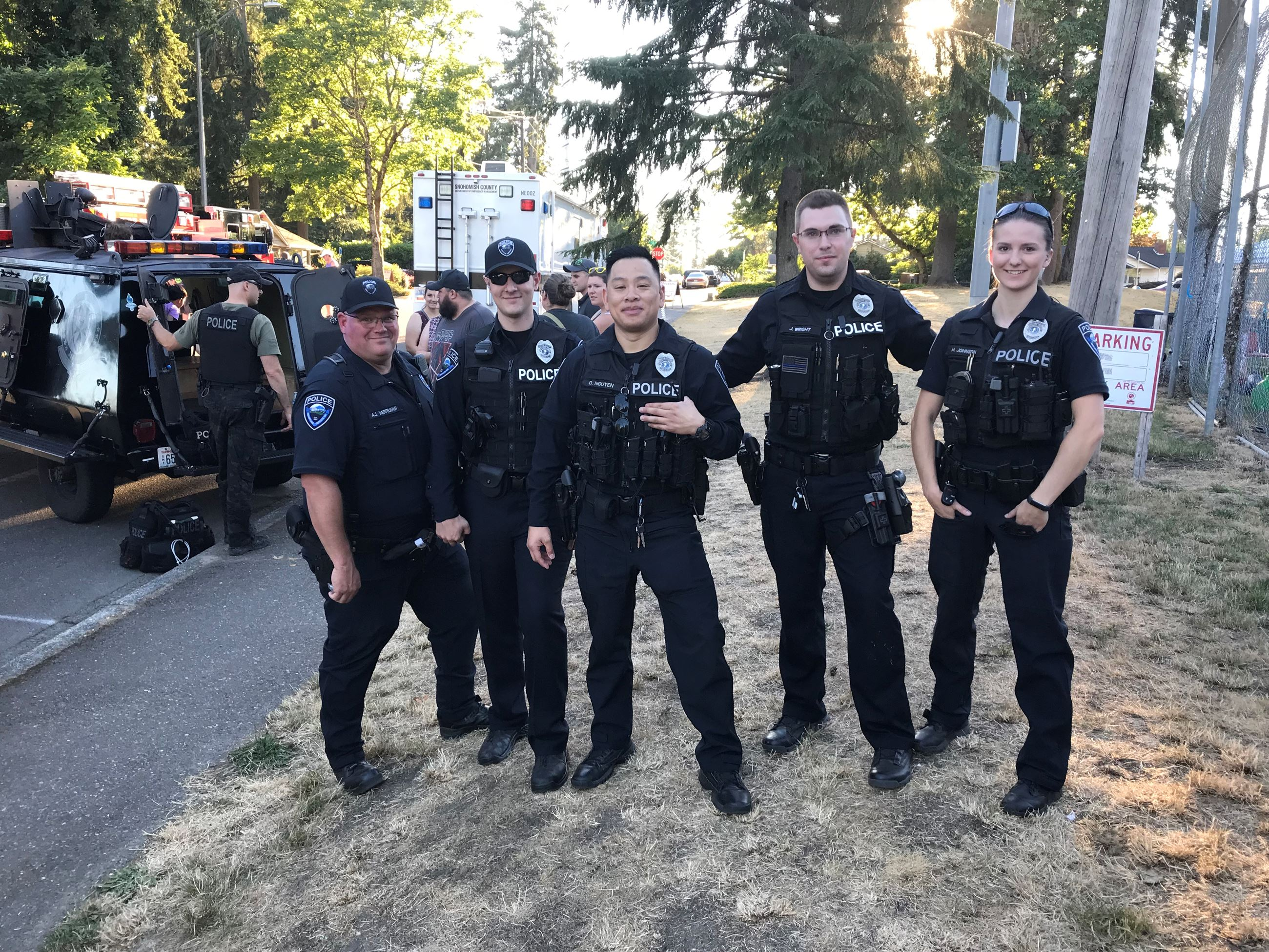 Police at community event_2019